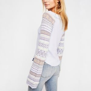 Free People Cropped Fairground Thermal Top